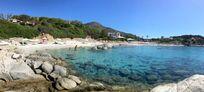Panoramic view of the beach