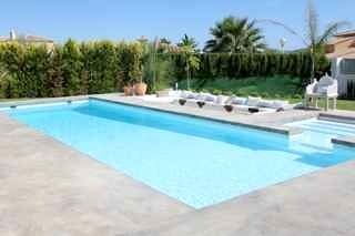 The 12m pool and childrens pool - pool can be heated for an extra £100 per week.