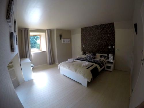 master bedroom with en-suite and TV