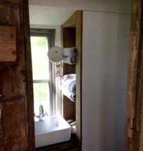 Shepherds hut bathroom
