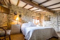 Upstairs Double Bedroom with original beams