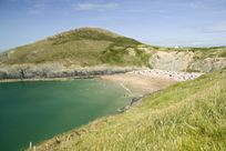Nearby Mwnt Beach