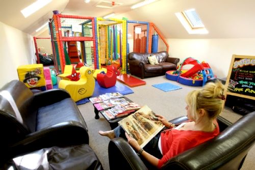Clydey softplay area with parents relaxation area and free coffee
