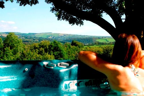 Clydey Outside Hot Tub With Views