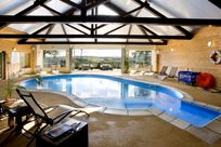 Family friendly indoor heated pool complex at Clydey