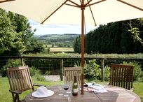 Glyndwr Garden Table & View