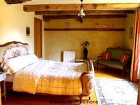 1st floor.  Chambre Sauterelle (grasshopper) with walk in wardrobe, dressing table and en-suite.