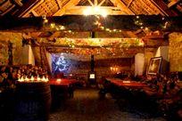 Party barn at Christmas
