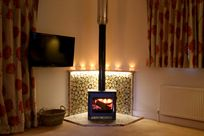 New wood burning stove. Very cosy!