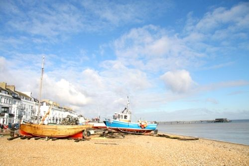 Fresh fish or fishing trips available from the local boats