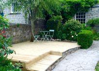 Decking area for alfresco dining/sunbathing