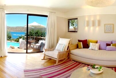 Family Friendly Holidays at Domes of Elounda-Open Plan Suite (Sea View & Hot Tub)