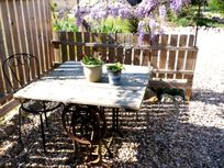 The perfect spot for lunchtime or evening dining, great sunset watching apero spot too!  All within sight & earshot of your cottage.
