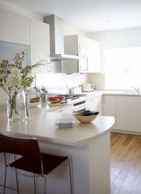 The sun filled kitchen
