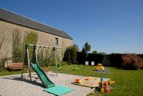 Walled outdoor play area