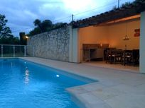 Pool seating area - evening pic 2