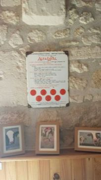 Proof that L'Etable was a cowshed - this original Alfa Lavel milking machine notice was found in the barn