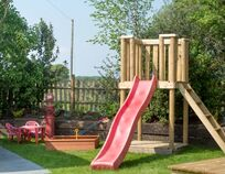 Play fort and slide