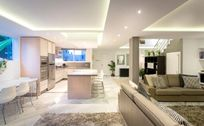 Modern open kitchen and lounge