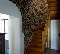 Exposed stonework in Fraise