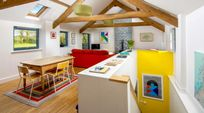 The open plan living/dining area