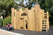 Wooden play fort
