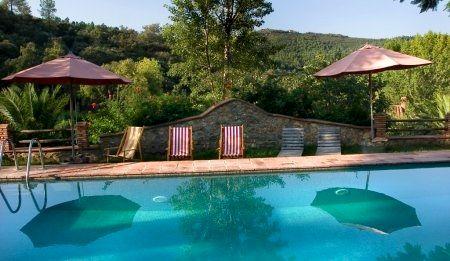 The raised communal pool