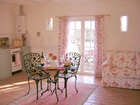 The cosy cottage interior is light and airy. Always a firm favourite with guests.