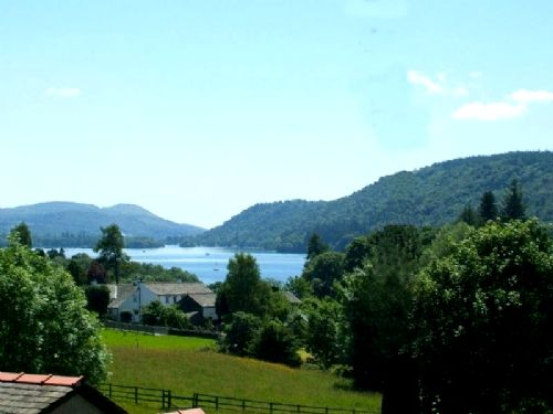 Lake Windermere from landing window