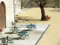 Chateau de Chargé - front courtyard and terrace