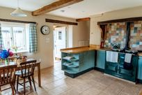 Kitchen with cosy Aga