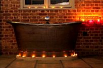 Outdoor bath for soaks under the stars