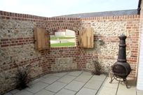 Private walled courtyard
