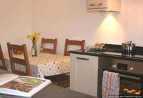 Small kitchen area - high chair available