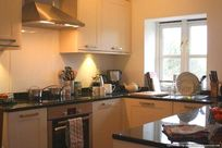 Kitchen with Bosch cooking appliances