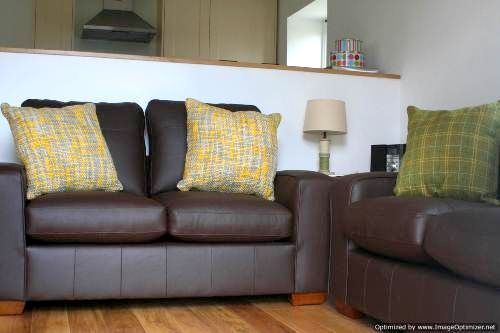Leather seating in lounge