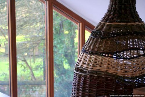 Locally made willow lampshade