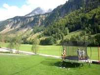 Views over the Aravis mountains from our trampoline