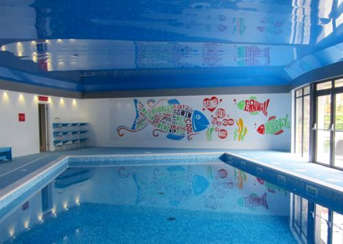 New solar heated indoor swimming pool