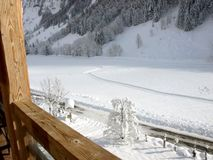 View from the chalet over the cross-country ski tracks