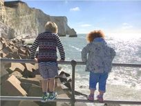 Looking for fish at Splash Point, Seaford Promenade, 10 minutes walk from Lamb's Knees