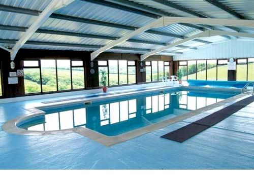 Indoor heated swimming pool with amazing countryside views