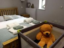 Double bedroom with cot and your baby's new friend!