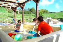 The heated splash pool - hours of fun & shaded too