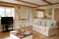 Lounge with stunning views over the duck pond and surrounding countryside