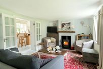 Cosy lounge with log fire