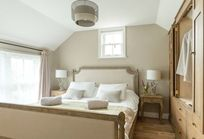 Master bedroom with superking bed and views over the New Forest