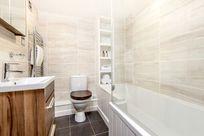 Heather bathroom with underfloor heating