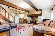 Bramble sitting room with log burner