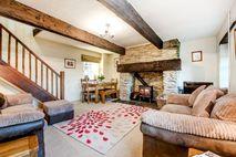 Bramble sitting room with log burner